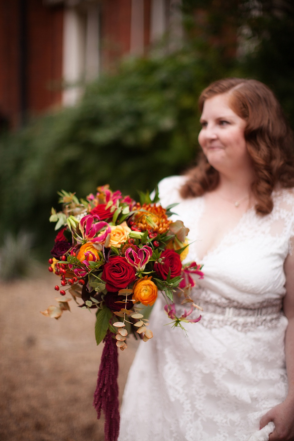 A Claire Pettibone Gown for an Autumn Wedding in London (Weddings )