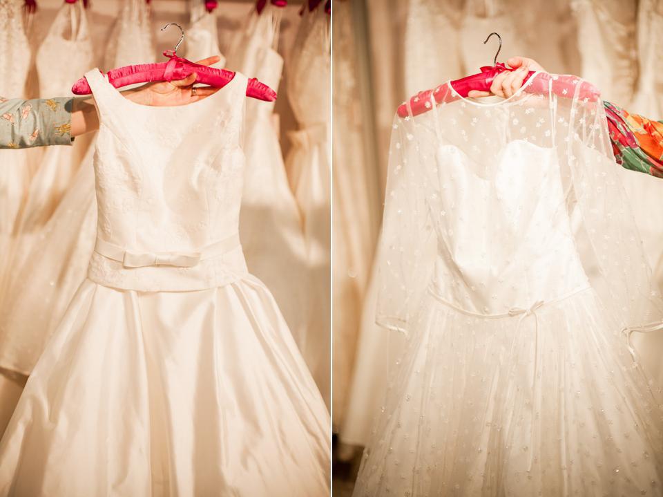 Blue Bridalwear wedding dresses at The White Gallery, London, April 2014