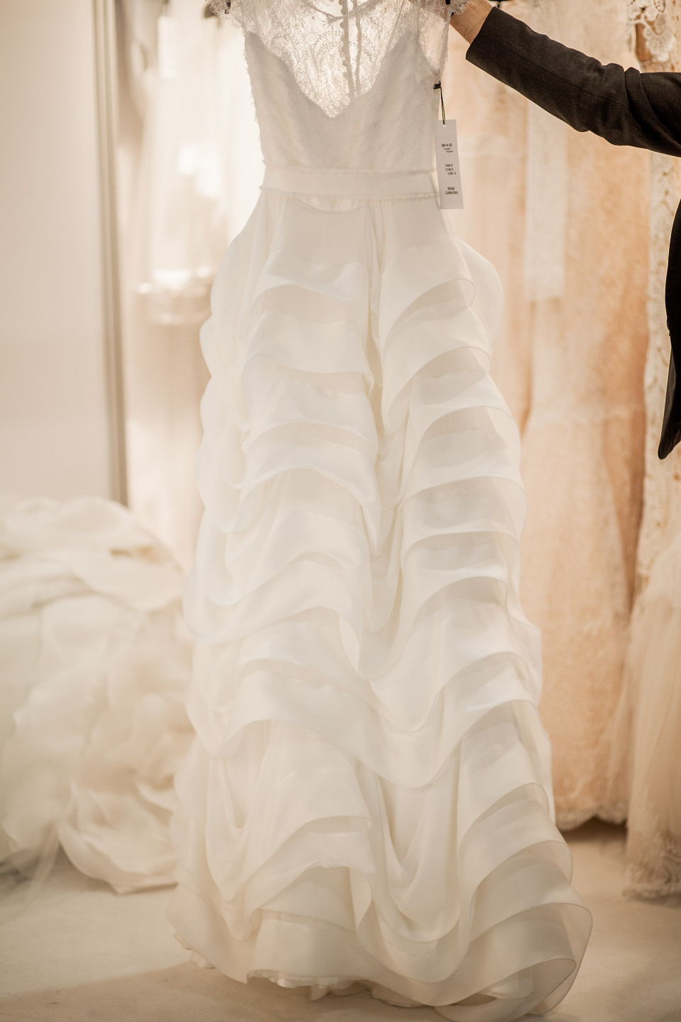 Christos Costarellos wedding dresses at The White Gallery, London, April 2014