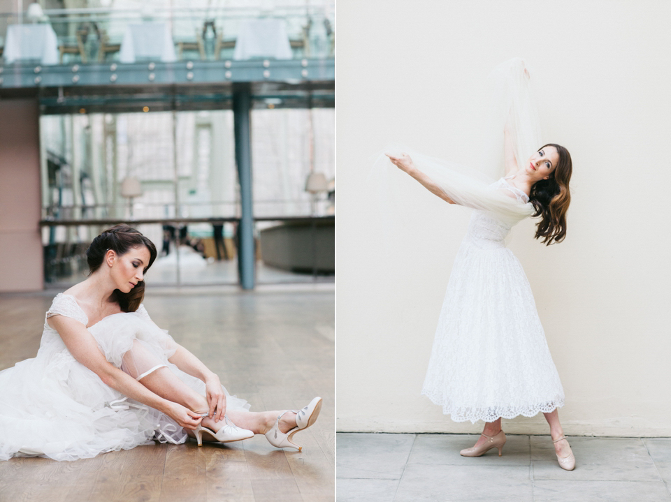 Rachel Simpson and Freed of London Create Stunning Range of Vintage Inspired Bridal Shoes (Bridal Fashion Styled Shoots )