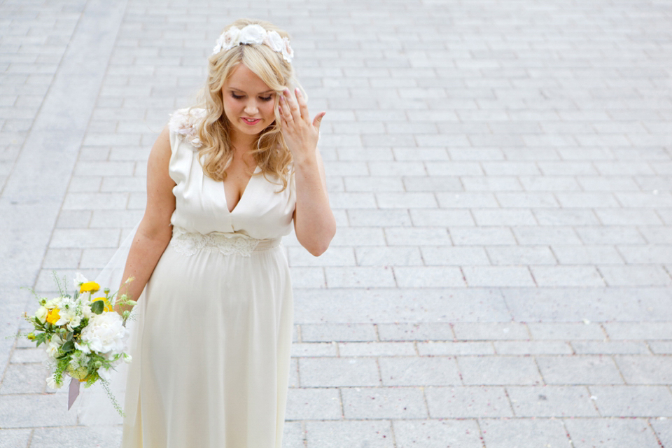 An Eco Chic Wedding Dress for a Pretty Yellow Spring Time Wedding (Weddings )