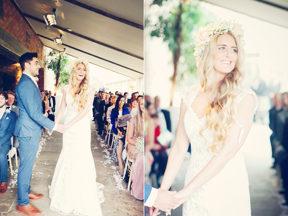 A Gypsophila Flower Crown And Pastel Hues For A Spring