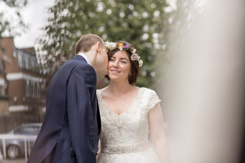 A Ronald Joyce Gown And Flower Garlands For A Woodland