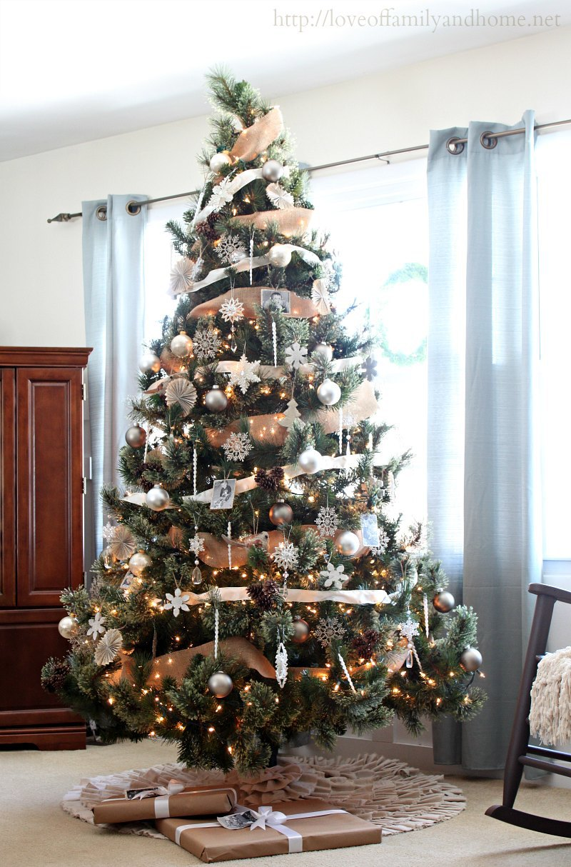 Sapin De Noel Decoration Neutral, Rustic, Glam Christmas Tree - Love Of Family & Home