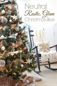 Neutral, Rustic, Glam Christmas Tree - Love of Family & Home