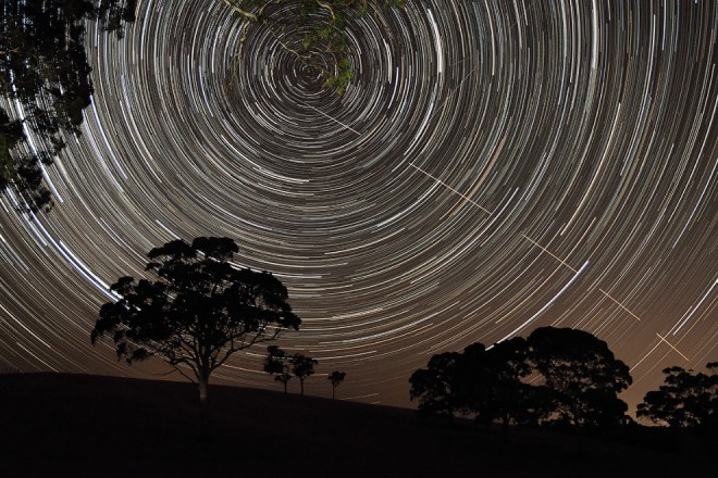 Звездные треки в Австралии