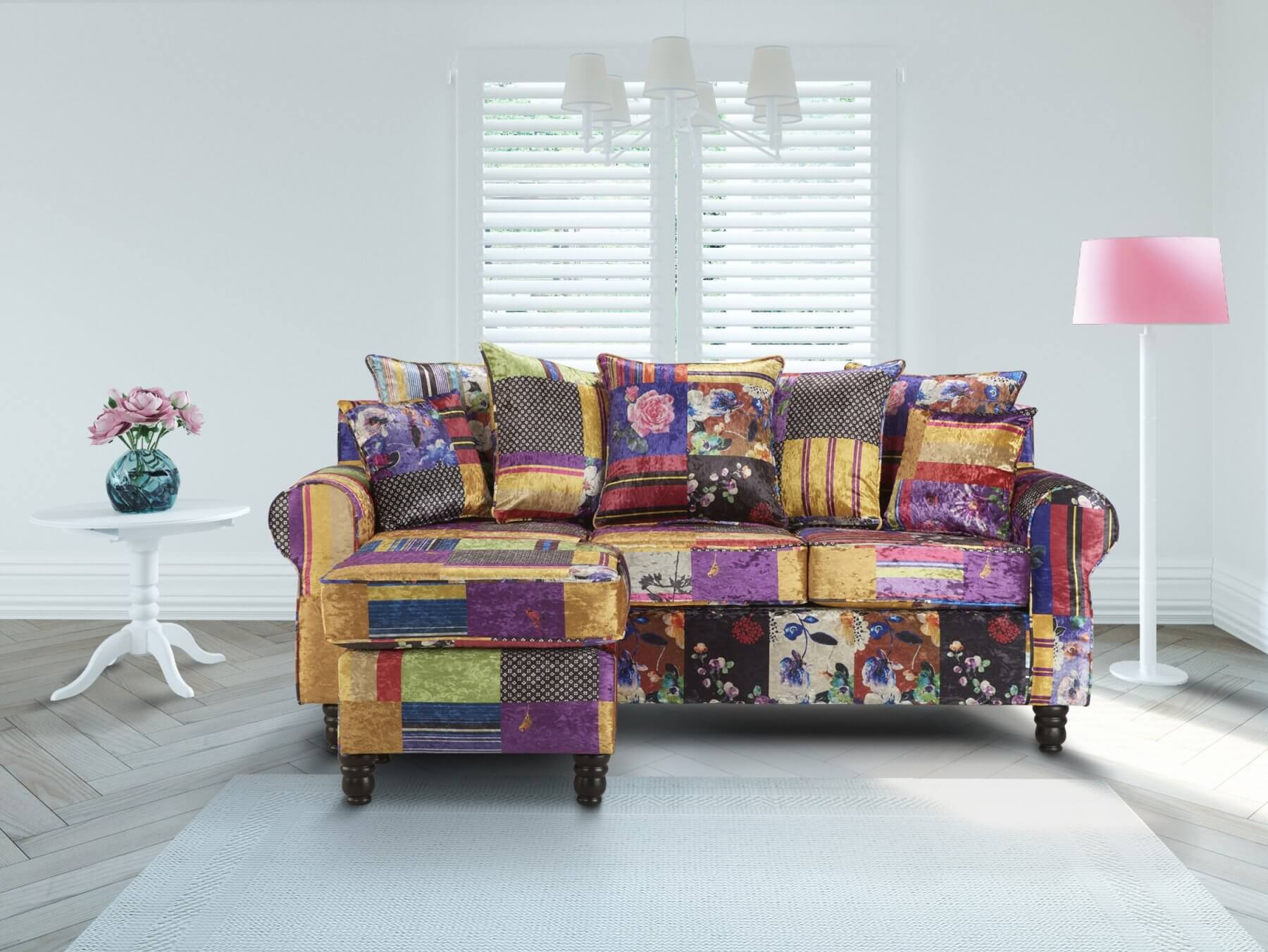 Patchwork Sofa Patchwork St Moritz Corner Sofa With Reversible Chaise