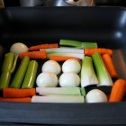 Turkey vegetable rack