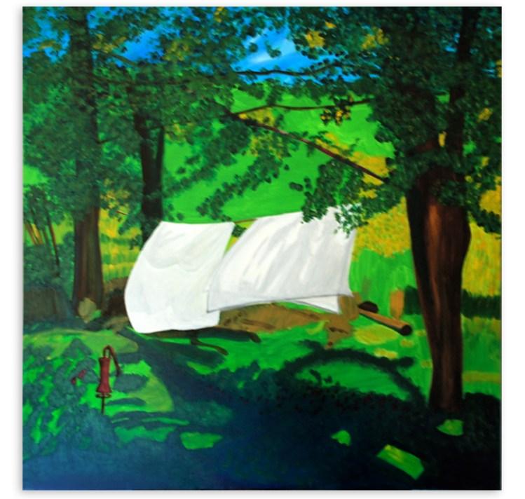 Ancram Backyard painting