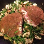 Pork chops with Garam Masala, Pork chops with Garam Masala in skillet