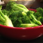 steamed fresh broccoli, fresh steamed broccoli, crisp fresh broccoliin bowl