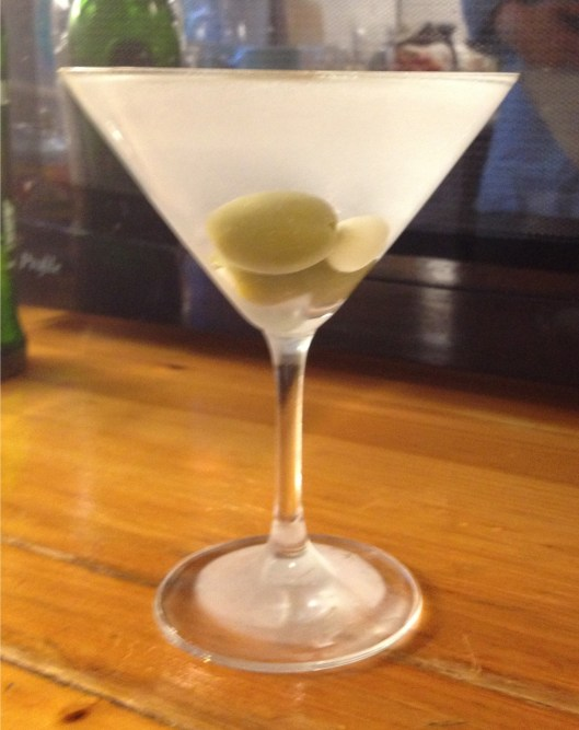 Chilled gin martini.