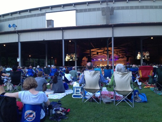 Tanglewood stage with lovers.