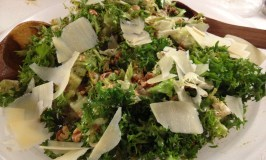 Chicory salad with walnuts and parmesan