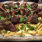 Beef stroganoff side view platter from Mar 23, 2014.