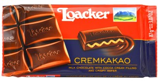 Loacker Cremkakao chocolate bar;