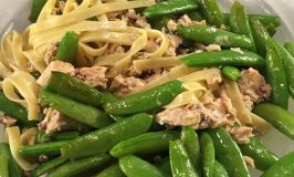 Mother's Day Recap & Fettuccine with Salmon & Sugar Snap Peas