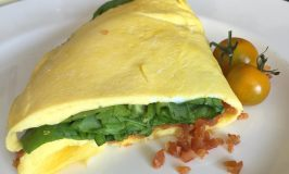 Chef's Cut Honey Barbecue Chicken Jerky & Spinach Omelet