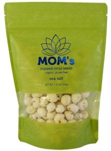 MOM's Popped Lotus Seeds, Sea Salt flavor.