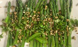 Asparagus with Maple Sugar & Sea Salt SUPERSEEDZ & Fresh Basil