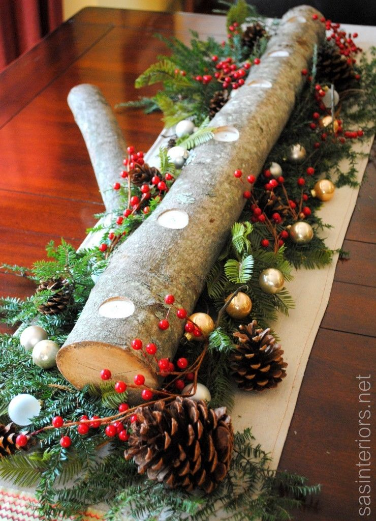 Moderne Kerstversiering Christmas Log Centerpiece Pictures, Photos, And Images For