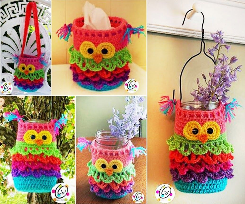 Baby Doll Küche How To Make An Owl Crochet For Any Mason Jar Pictures