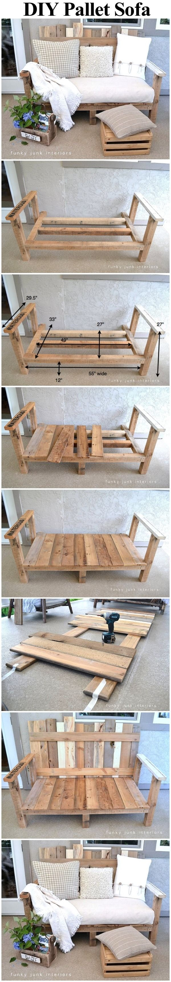 Do It Yourself Einrichtung Pallet Wood Outdoor Sofa Pictures, Photos, And Images For