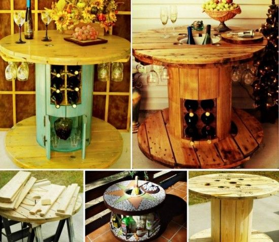 Velador Jardin Cable Spool Wine Table Pictures, Photos, And Images For