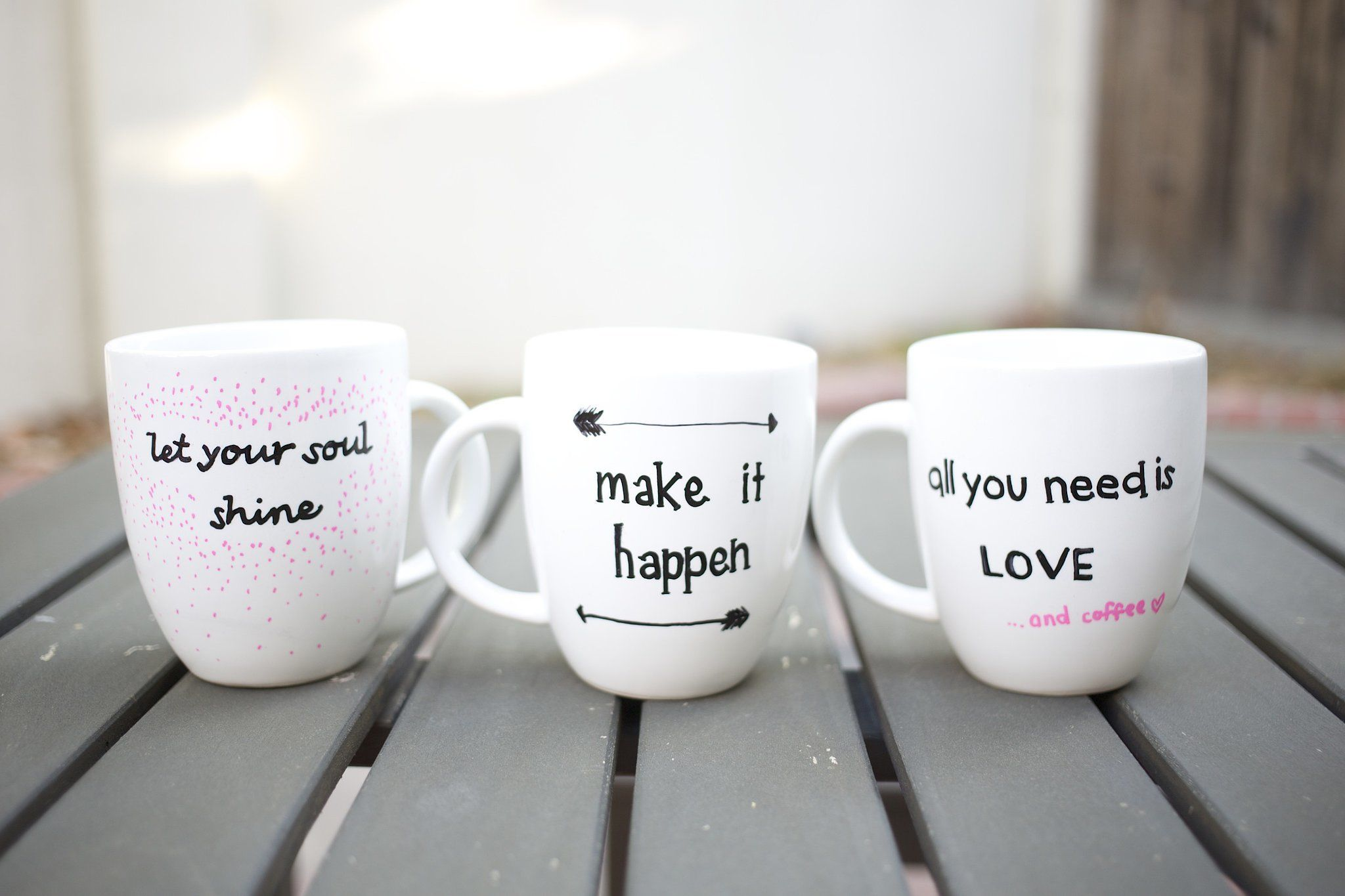 Teekanne Kaufen Quote Stenciled Sharpie Mugs Pictures, Photos, And Images