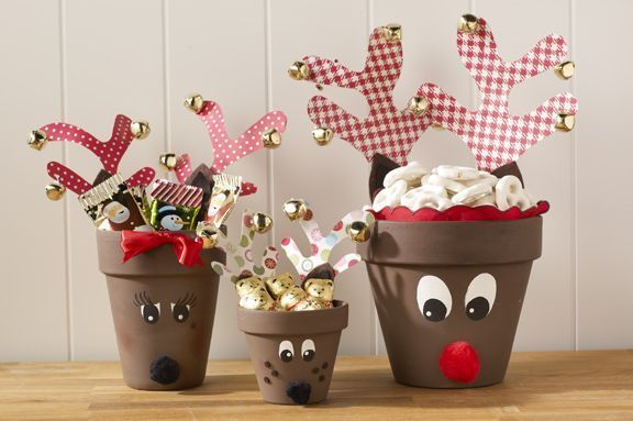Decoraciones Manuales De Halloween Cute Clay Pot Reindeer Pictures, Photos, And Images For