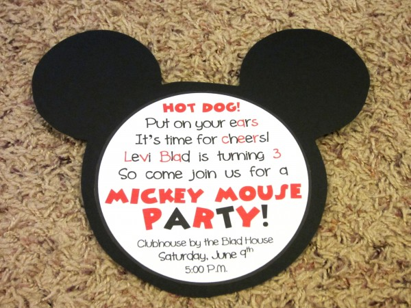 Mickey Mouse Invitations - Love to be in the Kitchen - unique mickey mouse invitations