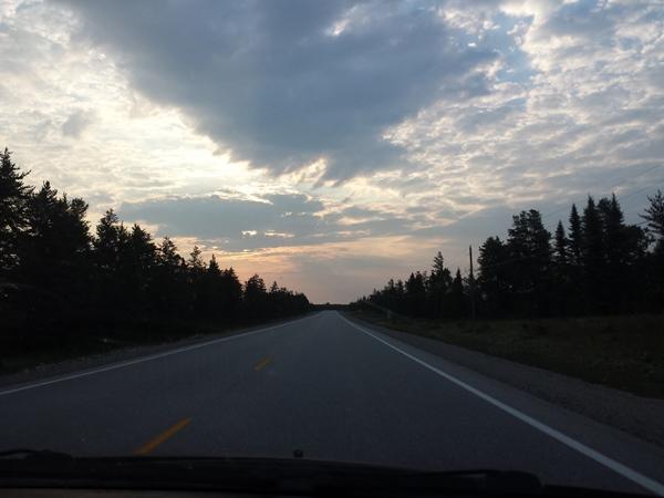 Рассвет в дороге