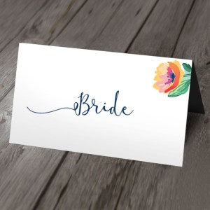 vintage garden wedding place card
