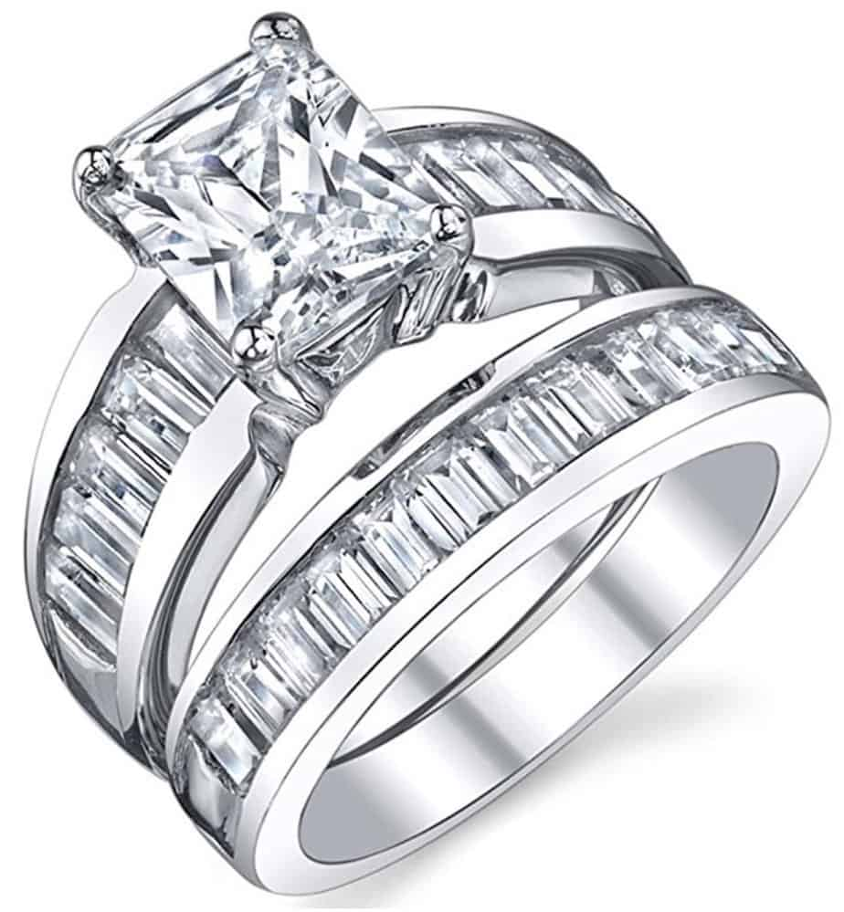 affordable wedding rings cubic zirconia wedding rings Cubic Zirconia Wedding Rings For Women Unique Jewelry Download