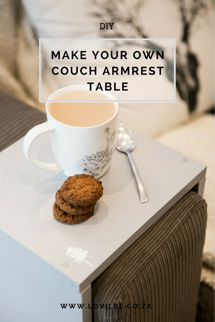 Sofa Arm Tray South Africa Diy Couch Armrest Table In A Few Easy Steps Lovilee Blog