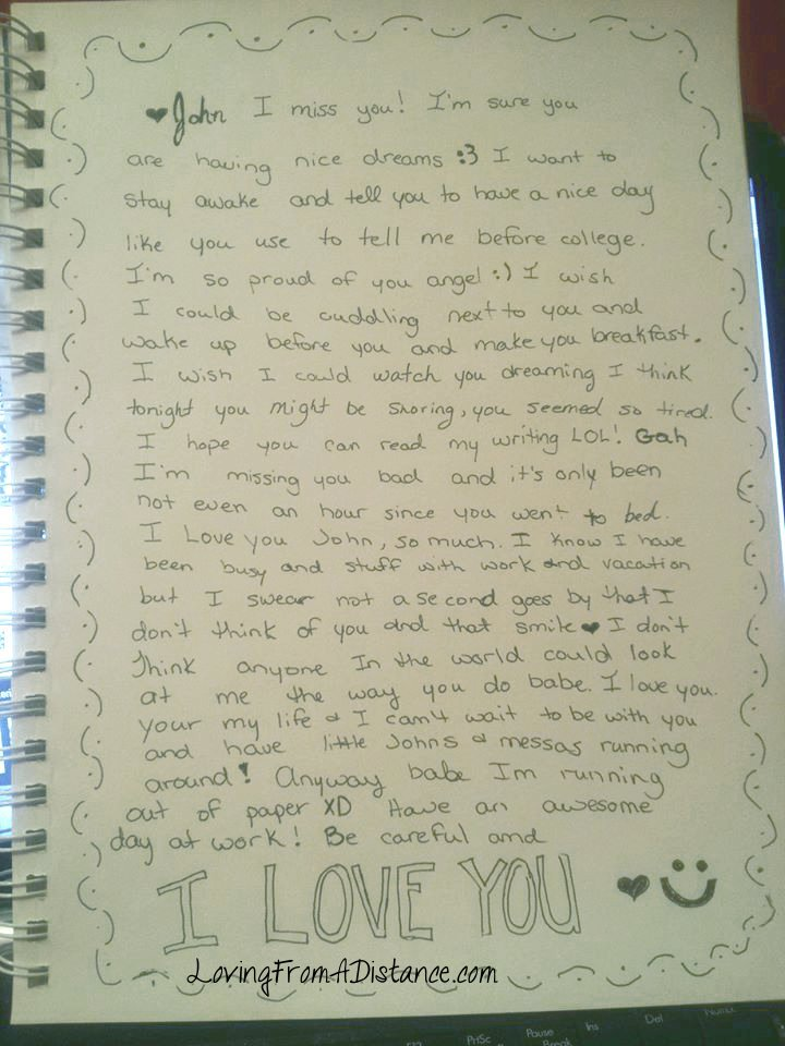 Love Letters For Him In A Long Distance Relationship Images - letter