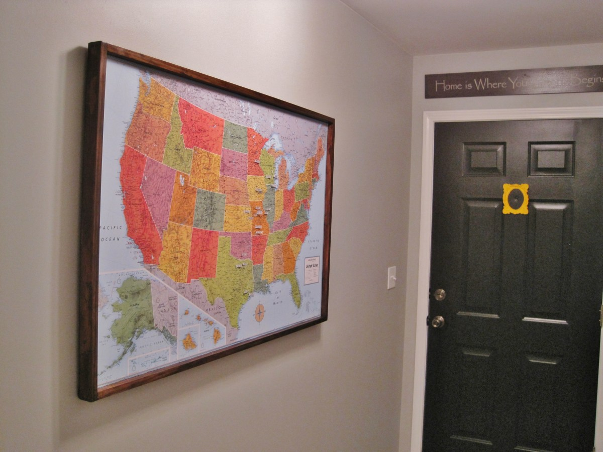 DIY Pinboard Travel Map Part 2