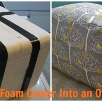 Soft, Sturdy, and Sweet: A DIY Foam Cooler Ottoman