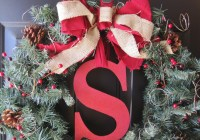 DIY Monogram Christmas Wreath