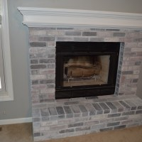 To Paint or Not To Paint, No Longer a Question: Whitewashing Our Brick Fireplace