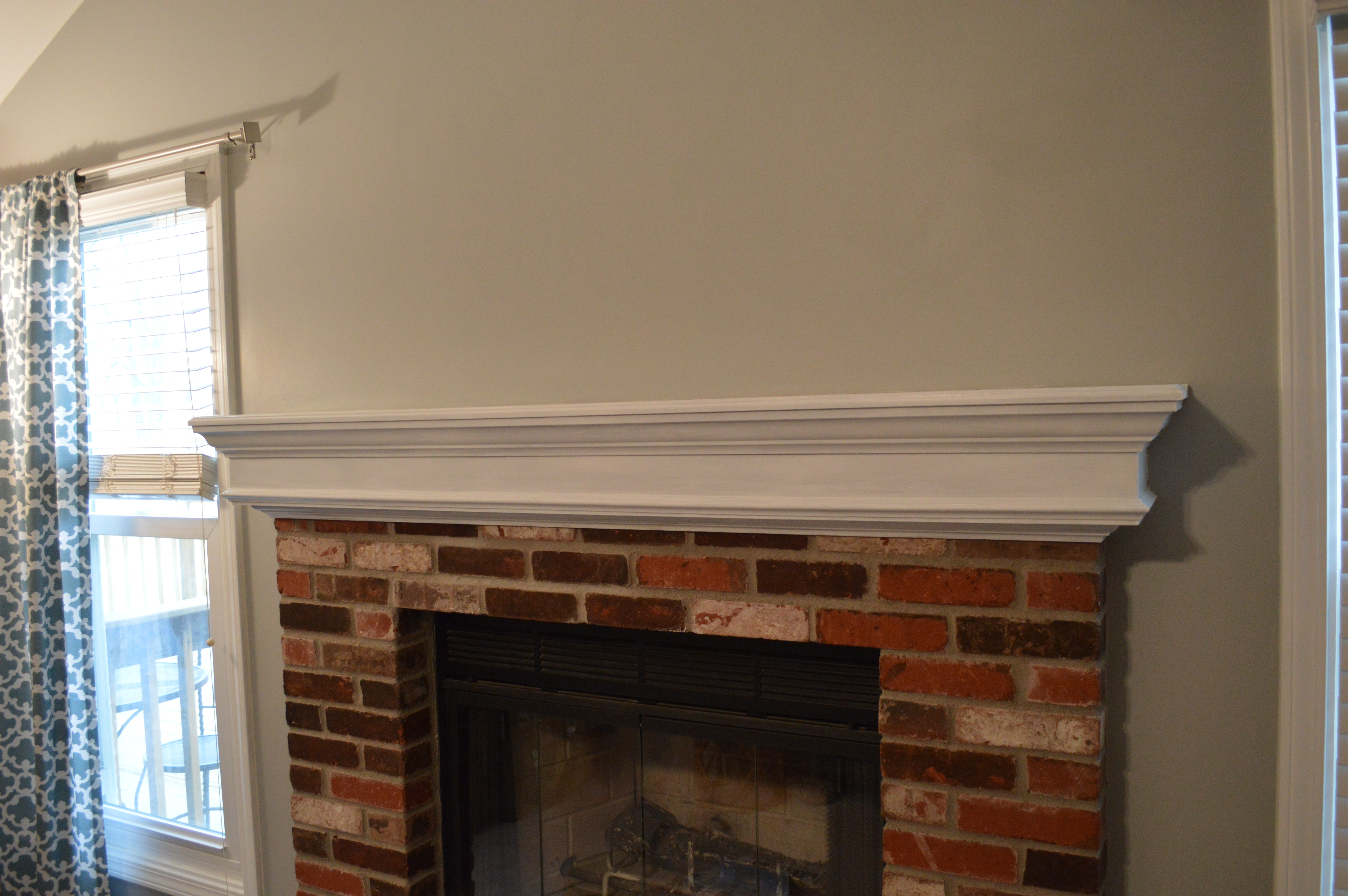 To Paint Or Not To Paint No Longer A Question Whitewashing Our Brick Fireplaceloving Here
