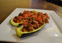Allergy Free Stuffed Zucchini Boats with Jimmy Dean Sausage 3