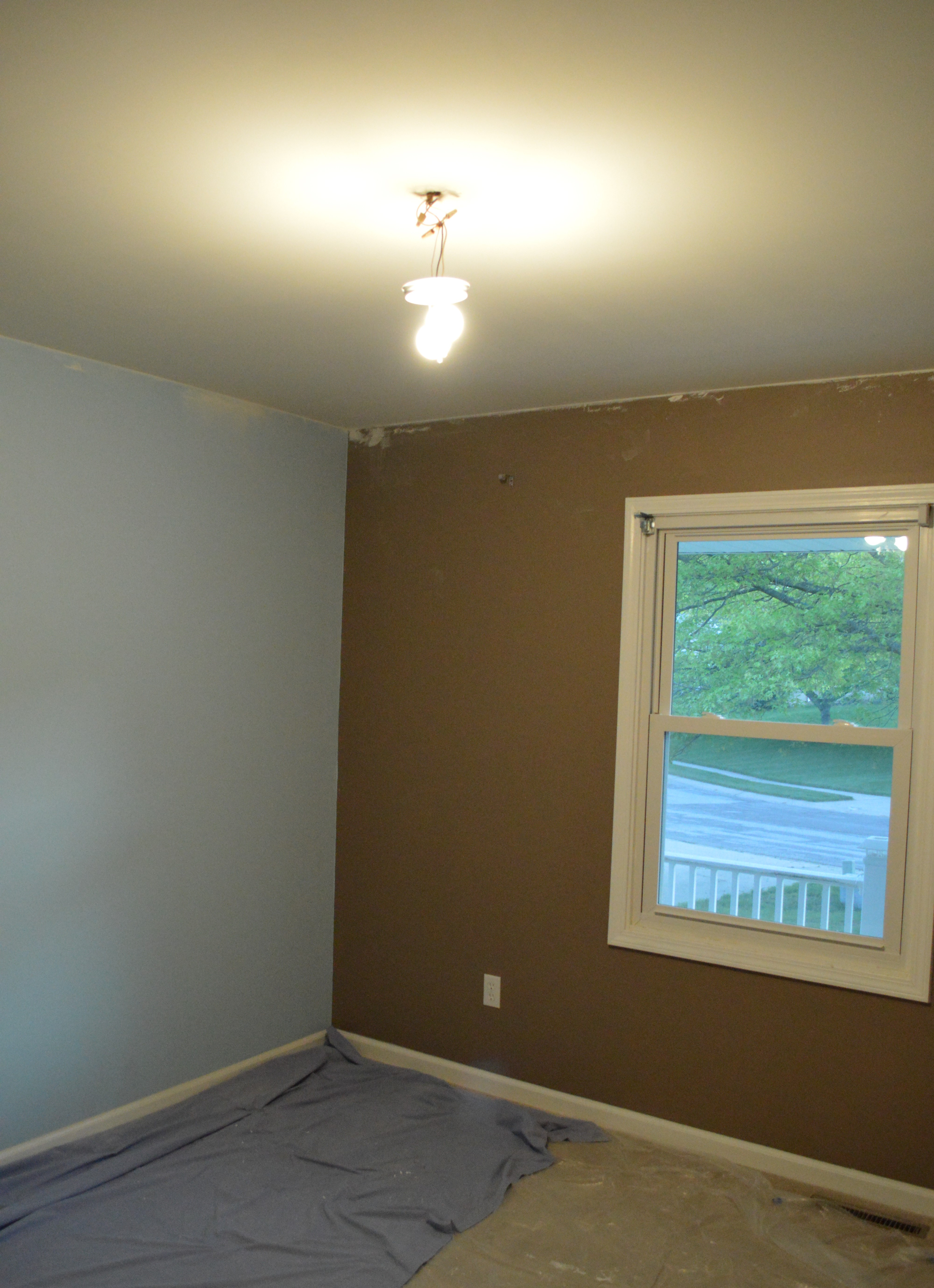 Weekend rewind progress thanks in part to my parents loving here - Painting nursery ceiling ideas tips ...