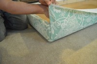 DIY (Nearly Free) Upholstered Headboard Using an Old
