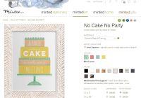 Minted Cake Print Snip
