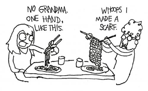 Chopsticks by lefthandedtoons.com