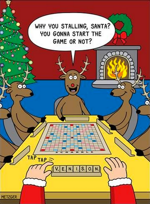 Playing Scrabble with Santa