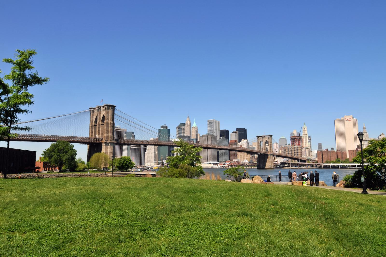 Manhattan Karte Brooklyn Bridge Park Mit Toller Aussicht Auf Die Skyline