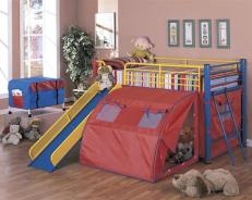 Tent and Slide Bed for Kids