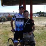 David Millar and me. I went a little bit funny after this and was unable to speak coherently for a while!